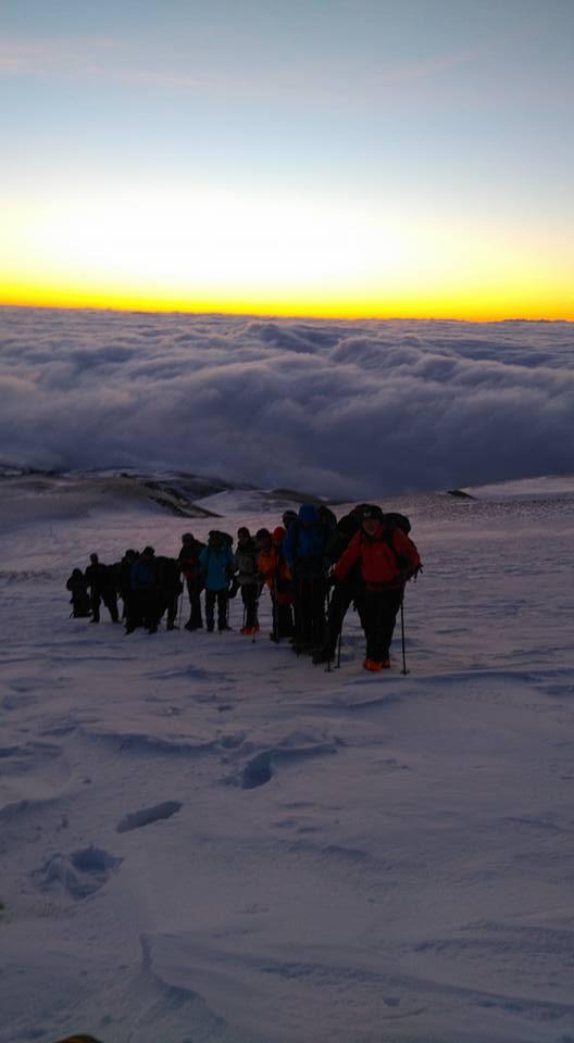 Süphan Dağı'na 20 Dağcı kış zirvesi yaptı