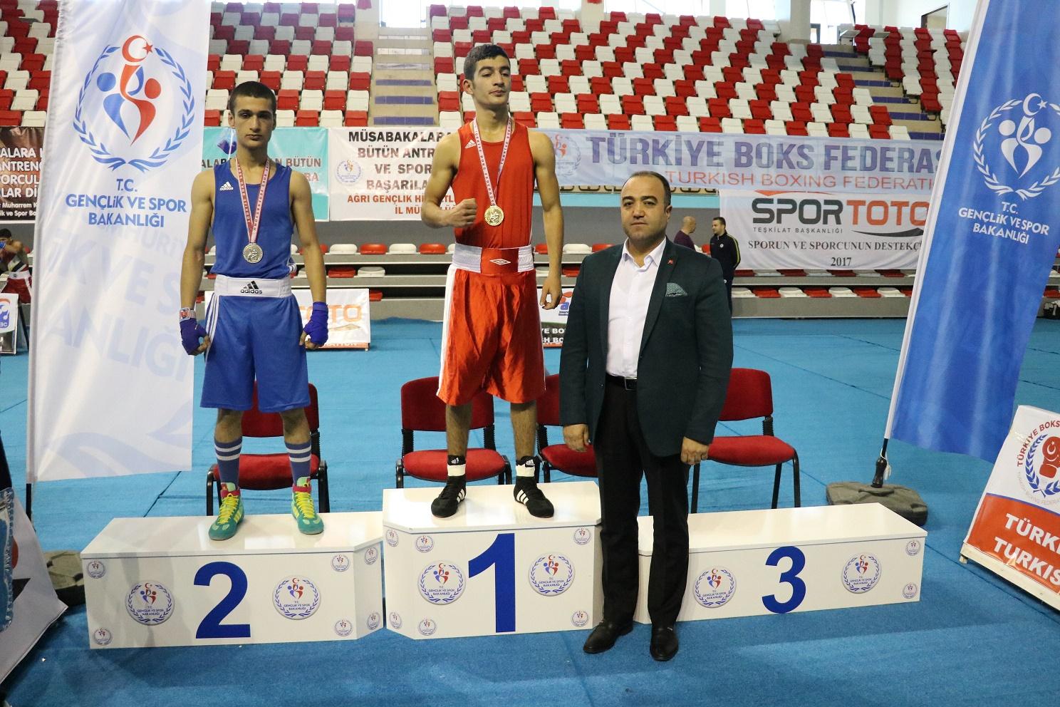 Büyük Erkekler 3.Grup Ferdi Boks Şampiyonası Sona Erdi