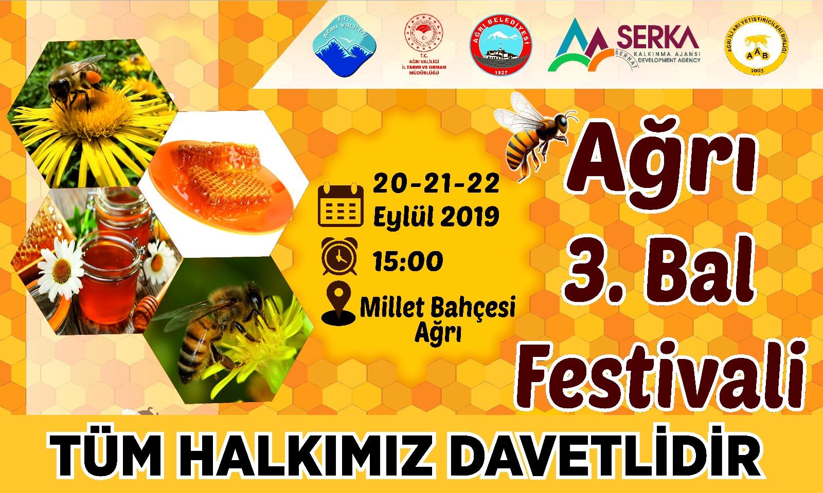 AĞRI 3. BAL FESTİVALİNE HAZIRLANIYOR