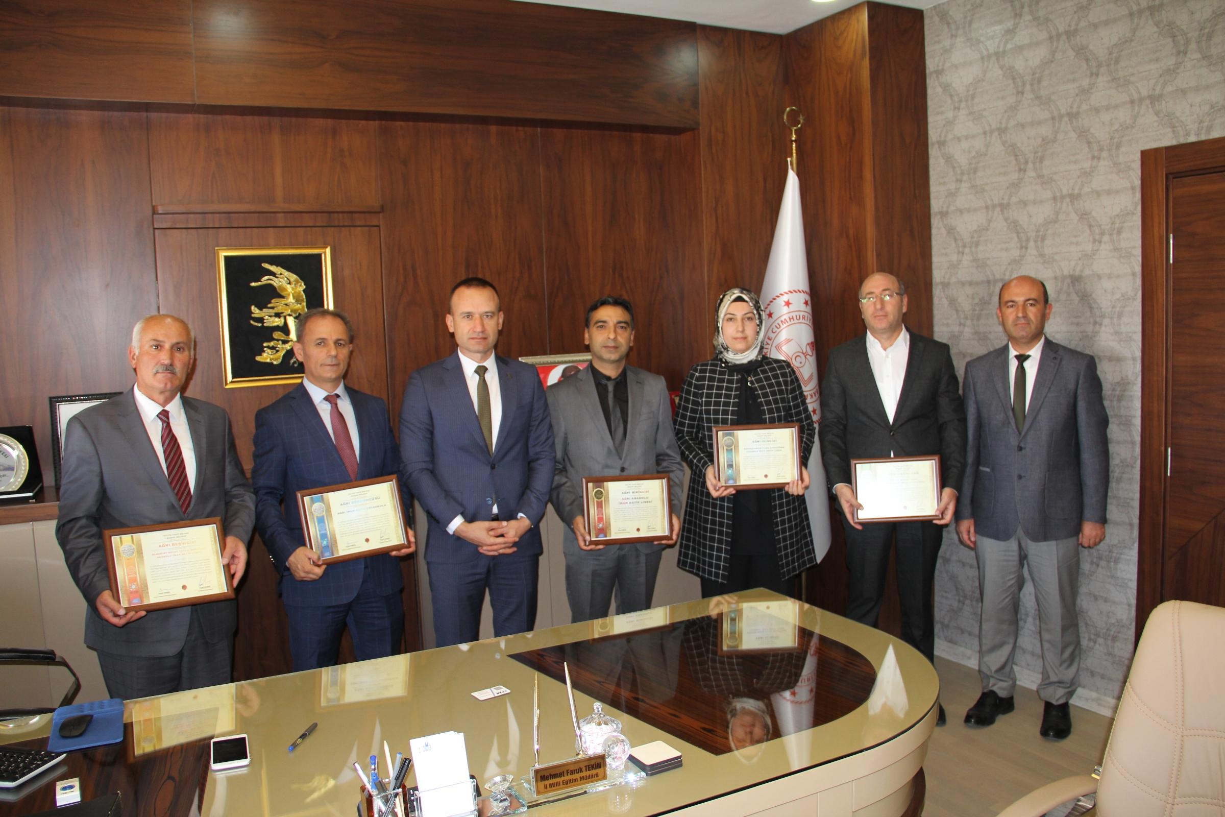 Ağrı'da 5 okula başarı belgesi verildi