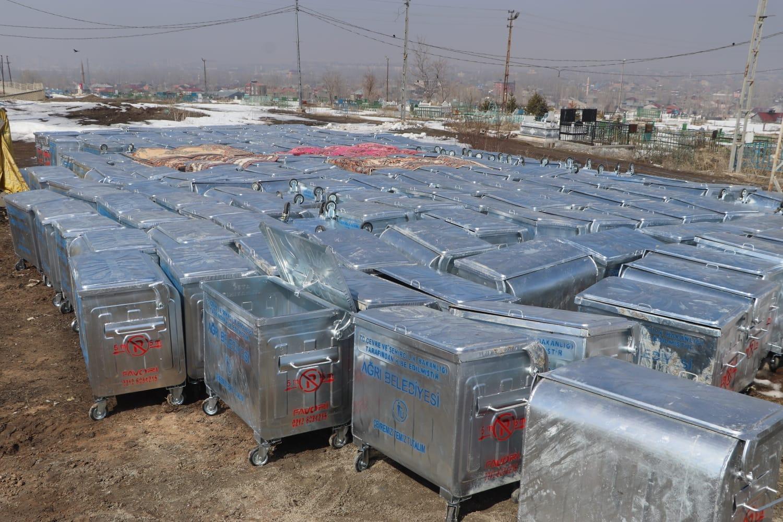 Ağrı Belediyesi 693 Adet Çöp Konteyneri Aldı