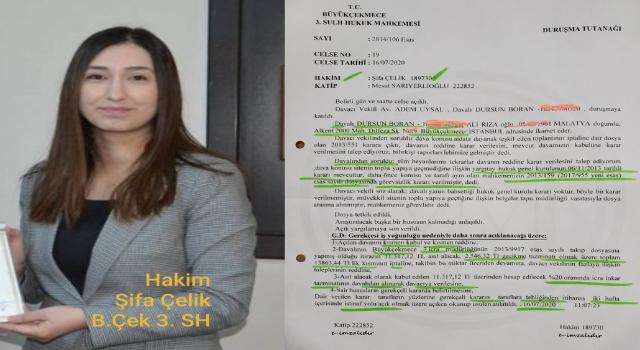 Hakim Şifa Çelik den skandal karar!